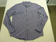 037 MENS NWOT BEN SHERMAN BLACK / PURPLE CHECK L/S SHIRT MEDM $120 RRP.