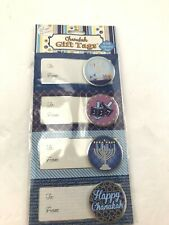 New Package of 8 Foil Chanukah Gift Tags