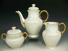 New listing Antique Old Paris Hand Painted Gilt Gold Tea Coffee Creamer Sugar Set