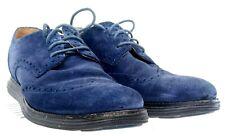 Cole Haan Lunargrand Oxford Mens Sz 9.5 M Blue Suede Wingtip Lace Up Shoe C12449