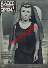 Radio cinéma n°517 du 13/12/1959 Silvia Montfort Bérénice