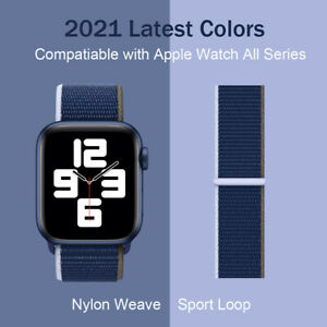 Sport Loop Nylon Woven Band for Apple Watch Strap iWatch Series 6 5 4 3 2 1 SE