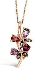 Le vian ® кулон Турмалин/Аметист/родолит/коричневые алмазы 14K розового золота