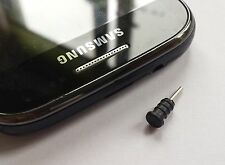 10x 3.5mm Anti Dust Earphone Jack Dust Plug Black iPhone 7 Plus Samsung S7 BNIB