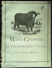 WOOL-GROWING In The ARKANSAS VALLEY, SOUTHWESTERN KANSAS  c.1877  Geo W, Martin