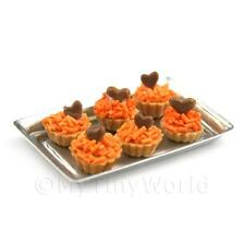 6 en vrac MAISON de poupées miniature orange fantaisies avec chocolat Heart