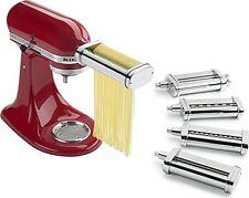 KitchenAid Deluxe Pasta Set KSMPDX Roller Spaghetti Fettuccine Capellini Cutter