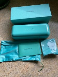 Tiffany & Co brand-new Eyeglasses/ Sunglasses Case, Cleaning Cloth And Box