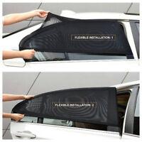 2x Car Rear Side Window Sun Visor Mesh Cover Shield Sunshade UV Protector Neu