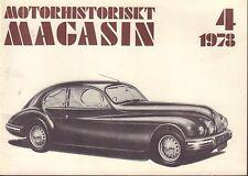 Motorhistoriskt Magasin Swedish Car Magazine 4 1978 Bristol Coupe 032717nonDBE