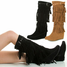 High (3 in. and Up) Suede Medium (B, M) 9 Boots for Women
