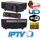 PROIETTORE LED WIFI ANDROID IPTV VIDEOPROIETTORE3D 1080P HD HDMI USB HOME CINEMA