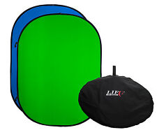 150x200cm Blue & Green Chroma Key Matt Folding Background Chromakey Pop Backdrop
