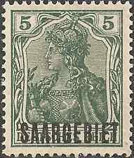 MH 1920 Stamp 5 Pf. SAARGEBIET OVERPRINT German Empire GERMANIA Green SARRE