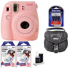 Fujifilm Instax Mini 8 Instant Film Camera Pink + 20 Airmail Film +Accessory Kit