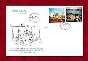 TURKEY 2020  FDC COVER HAGIA SOPHIA MOSQUE