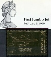 "Dominica ** Goldmarke ""First Jumbo Jet"""