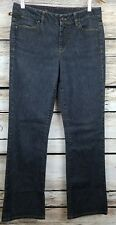 "Talbots Women's Curvy Bootcut Denim Stretch Jeans 6/28 Black/Grey Wash 29""x31"""