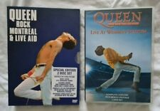 QUEEN Live at Wembley + QUEEN Rock Montreal & Live Aid  : 2 x double disc DVD