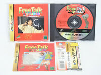 Sega Saturn FREE TALK STUDIO Red with SPINE CARD * Import Japan Game ss