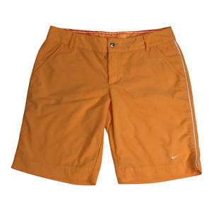 Nike Board Shorts Youth LARGE 12-14 Orange with White Stripe and Pockets C04