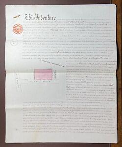 1880 Indenture Reverend Conder to Henry Booker for land in Sudley Road, Bognor