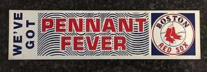 Boston Red Sox We've Got Pennant Fever Bumper Sticker