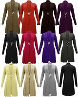 Ladies Womens Knitted Waterfall Boyfriend Cardigan Dress Long Sleeve Jumper 8-30