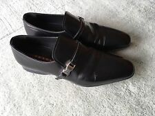 Prada Black Leather Men's Shoes -  Made In Italy