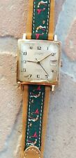 Rare STRATO square goldfilled vintage watch mecanic Swiss made NR