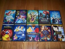 Walt Disney's Princess Collection of 10 movies on DVD. Frozen, Brave, Tangled +7