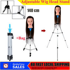 AU Local Hairdressing Training Mannequin Manikin Head Doll Tripod Stand With Bag