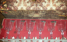 Cristal d' Arques Six French Versailles Lead Crystal Stem Glasses