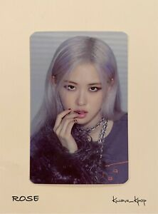 ROSE BLACKPINK [THE ALBUM] 1ST FULL ALBUM PREORDER BENEFITS OFFICIAL PHOTO CARD