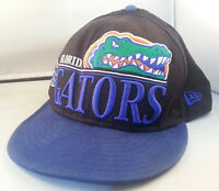 Vintage FLORIDA GATORS NCAA New Era Snapback with Large Embroidered Logo Hat GUC