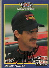 Davey Allison autographed 1992 MAXXWELL HOUSE NASCAR cd