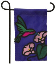 MINI GARDEN FLAG FOR FLOWER POT - HUMMINGBIRD - JEANE'S THINGS