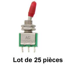 Lot 25 Interrupteurs  à Levier- Inverseur 1RT- TU5-LT25