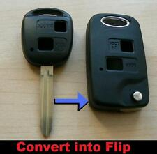 Toyota 2 Button Flip Conversion Key Fob case Celica Avensis RAV4 Prado Camry