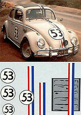 VW Volkswagen Käfer Beetle #53 1:43 Decal Abziehbild