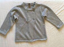Gilet gris argenté fille 23 mois