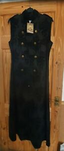 Long Sleeveless Black Steampunk/Gothic Dress. New. Size 14 Ideal for fancy dress