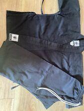 Martial arts Karate judo black Suit uniform Outfit Top & Bottom Size 110