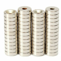 50x Strong Ring Magnet Disc 10X3mm Countersunk Hole 3mm Rare Earth Neodymium N50