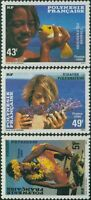 French Polynesia 1986 Sc#430-432,SG473-475 Polynesian Faces set MLH