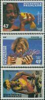 French Polynesia 1986 Sc#430-432,SG473-475 Polynesian Faces set MLH