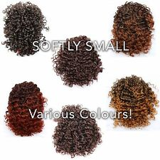 """Pride of USA 6"""" Afro Puff Hair Piece Clip on & Draw String Yaki Curly Extension"""