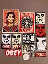 shepard fairey street art sticker pack lot obey giant banksy mr.brainwash style