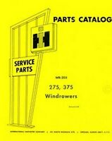 International 275 and 375 Windrower Parts Catalog Manual WR-203