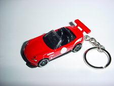 NEW 3D RED 2015 MAZDA MX-5 CUSTOM KEYCHAIN keyring key racing BACKPACK BLING! 15
